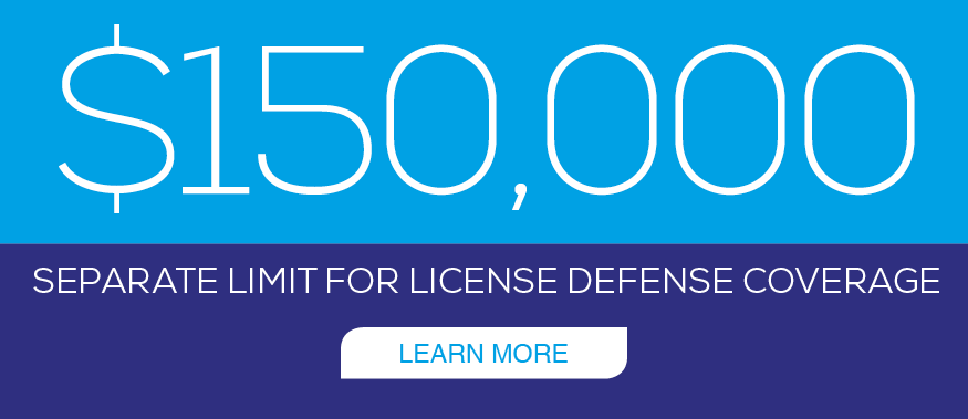 $150K License Defense Coverage